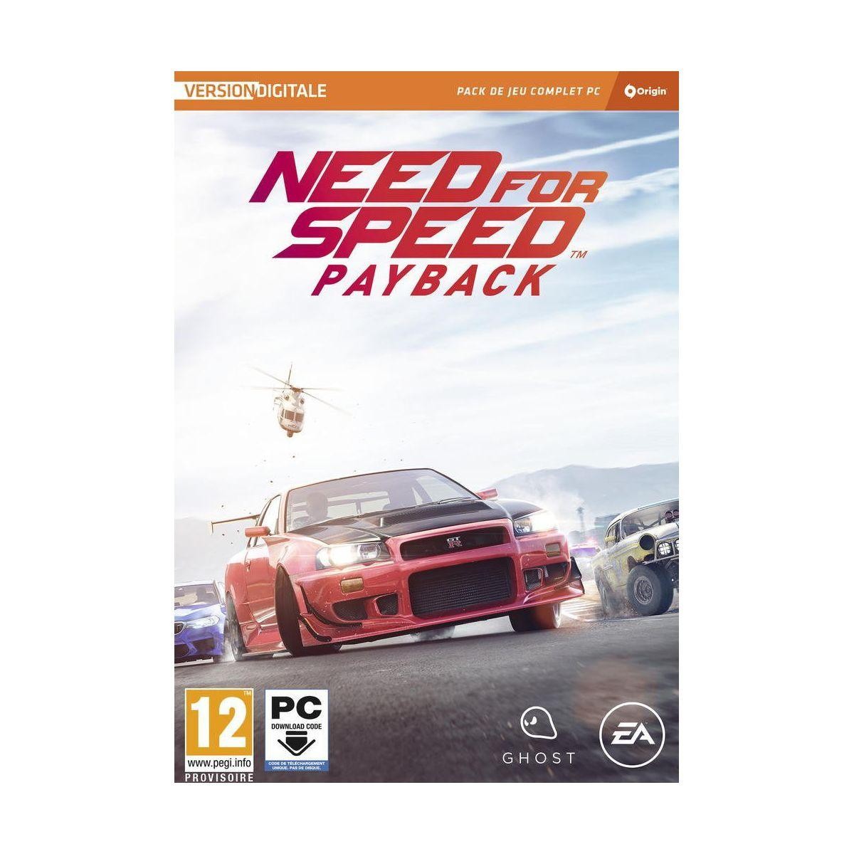 Jeu pc electronic arts need for speed payback (photo)