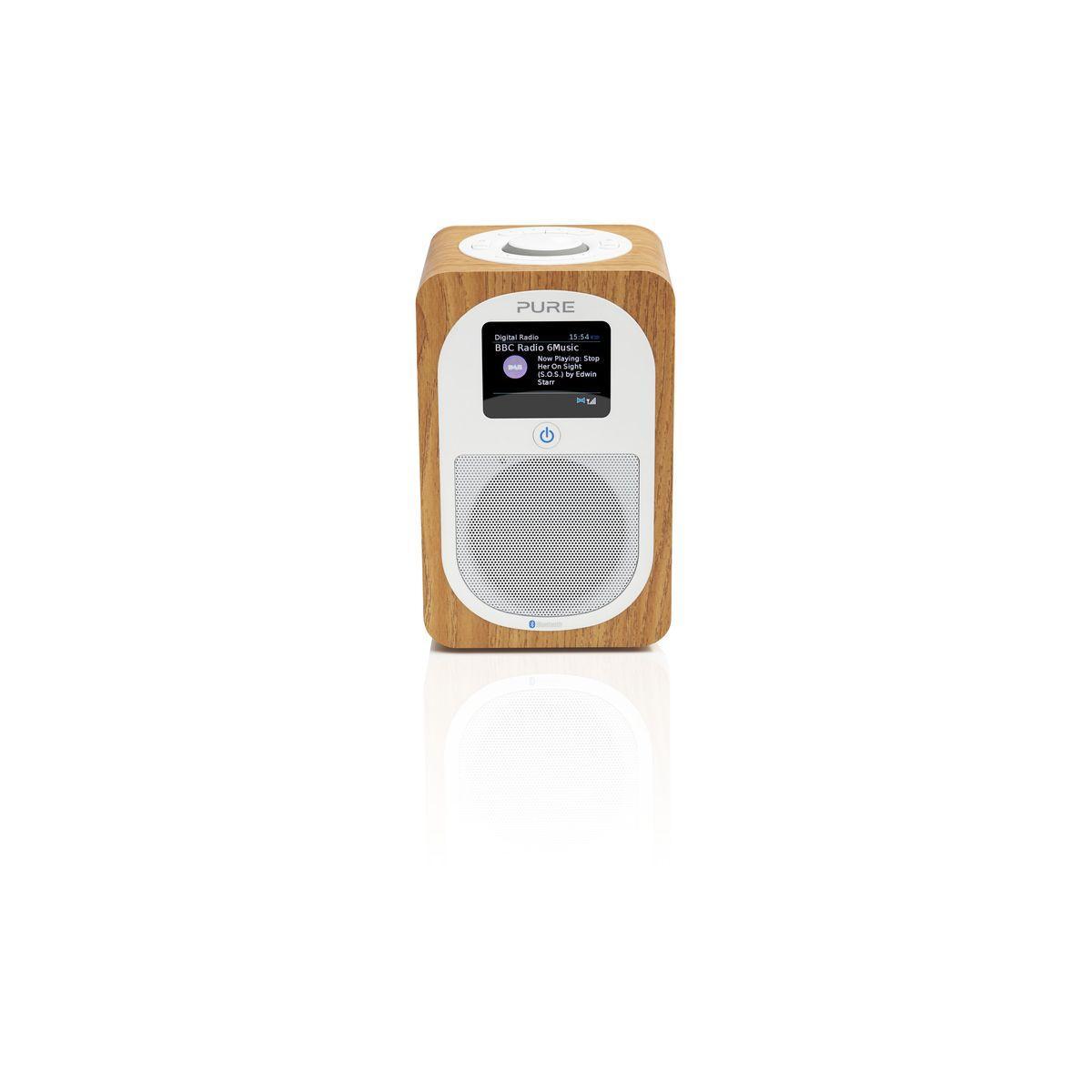 Radio num?rique pure evoke h3 oak - livraison offerte : code p...