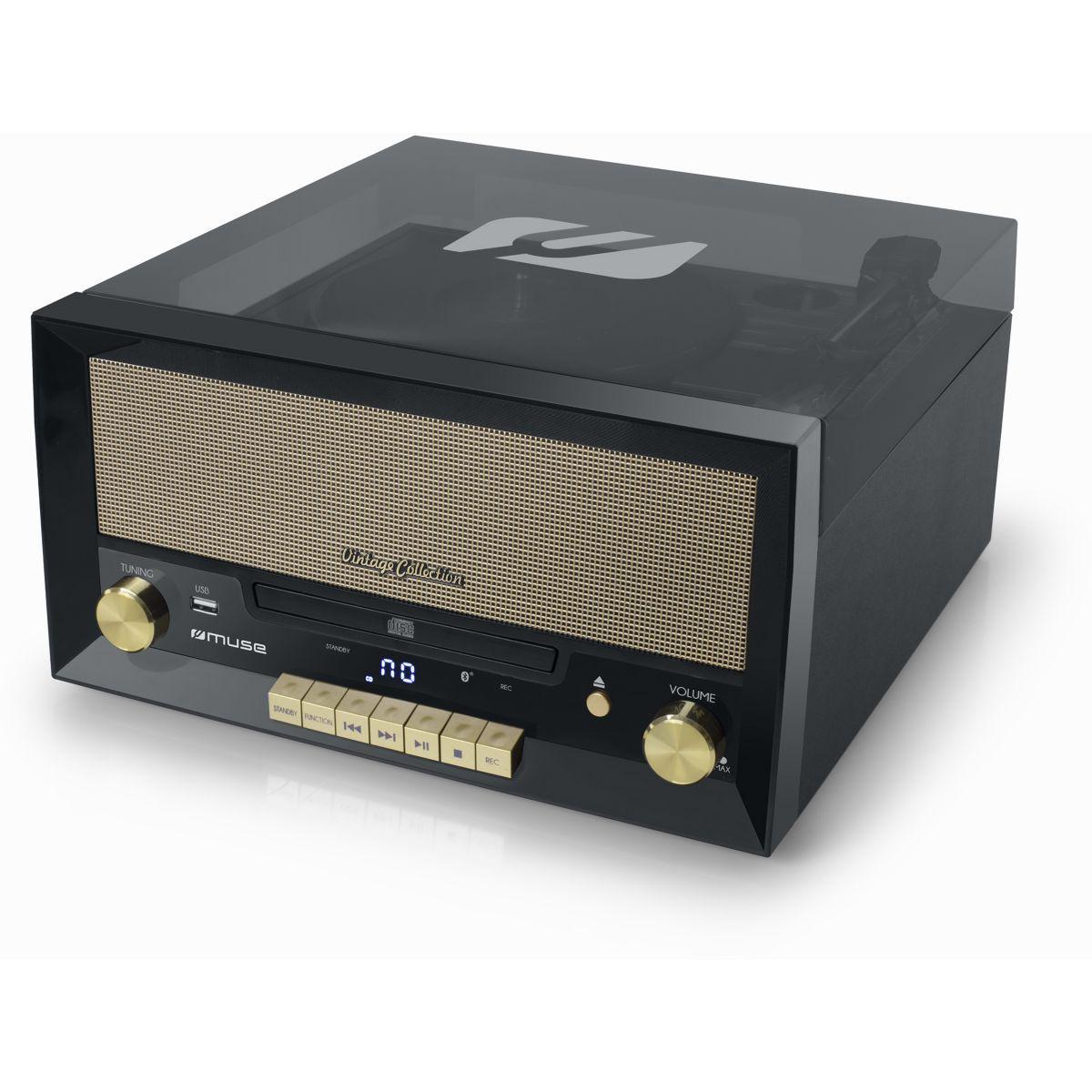 Platine vinyle muse vinyle mt-110b noir - livraison offerte : ...