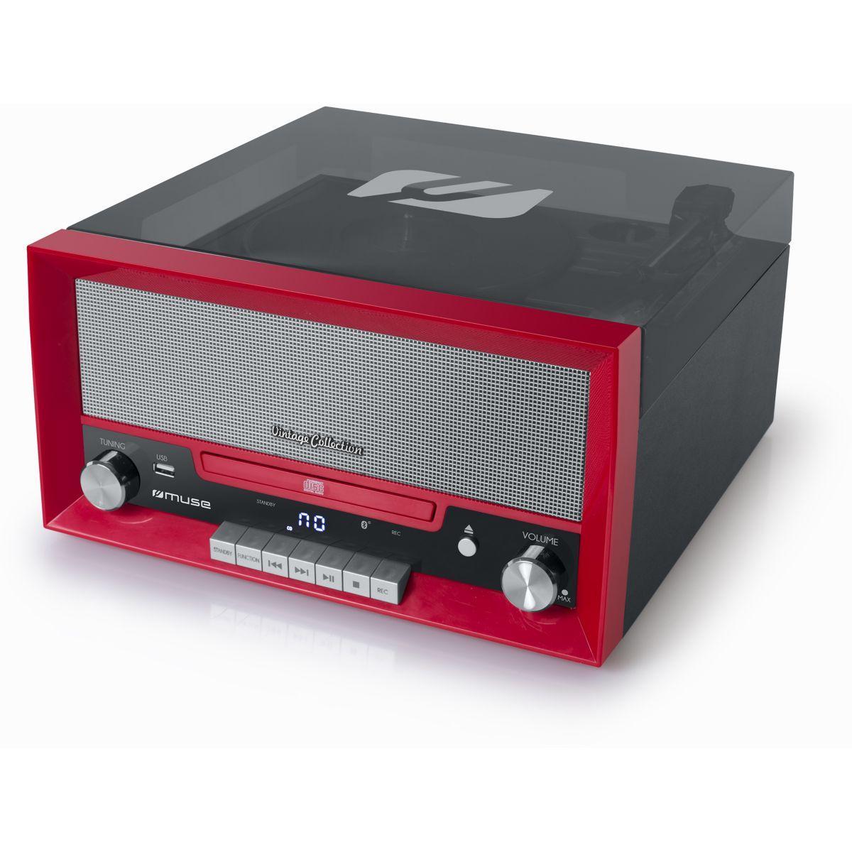 Platine vinyle muse mt-110rd vinyle/cd/fm rouge - 15% de remise imm�diate avec le code : fete15 (photo)