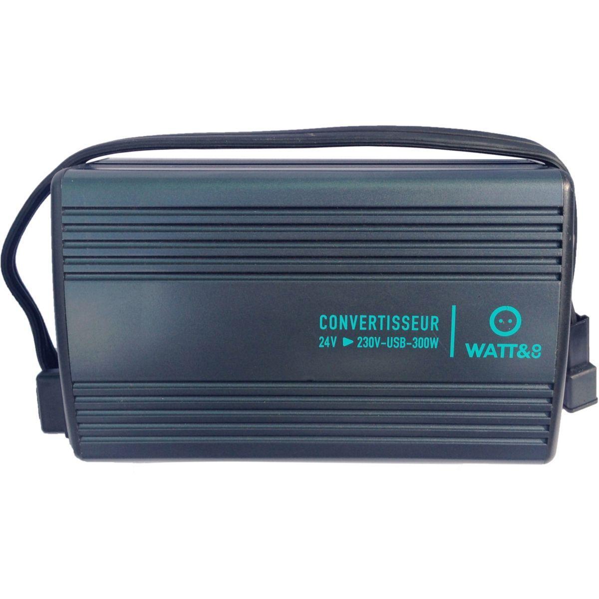 Convertisseur watt and co convertisseur24v-230v 300w1xusb 2a - 7% de remise imm�diate avec le code : fete7