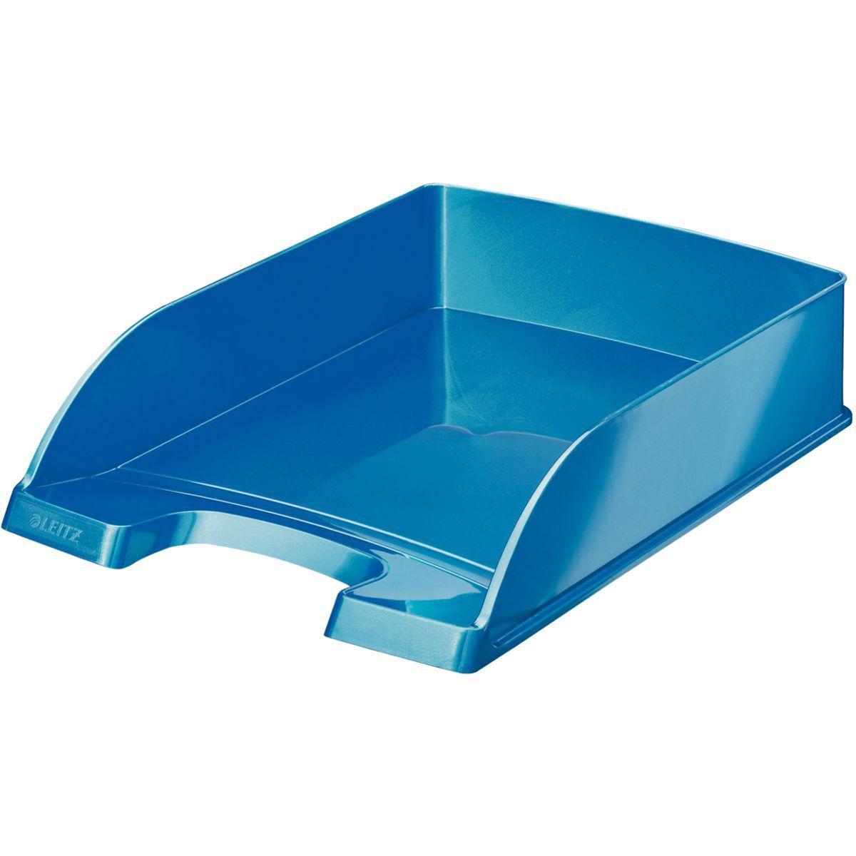 Bannette bureau leitz corbeille courrier a4 wow bleu - 2% de remise imm�diate avec le code : automne2 (photo)