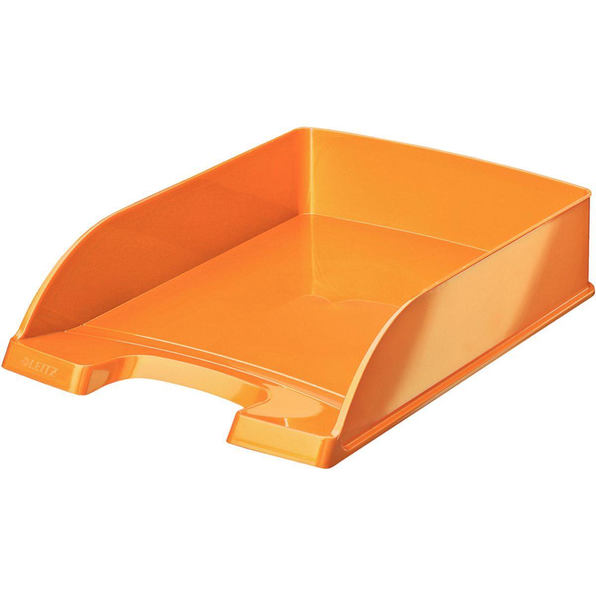 Bannette bureau leitz corbeille courrier a4 wow orange - 2% de remise imm�diate avec le code : automne2 (photo)