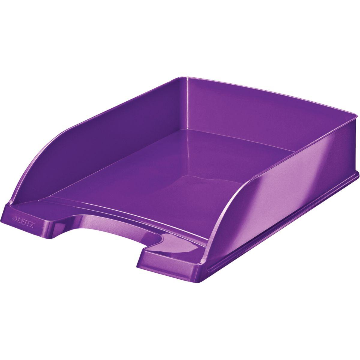 Bannette bureau leitz corbeille courrier a4 wow violet - 2% de remise imm�diate avec le code : automne2 (photo)