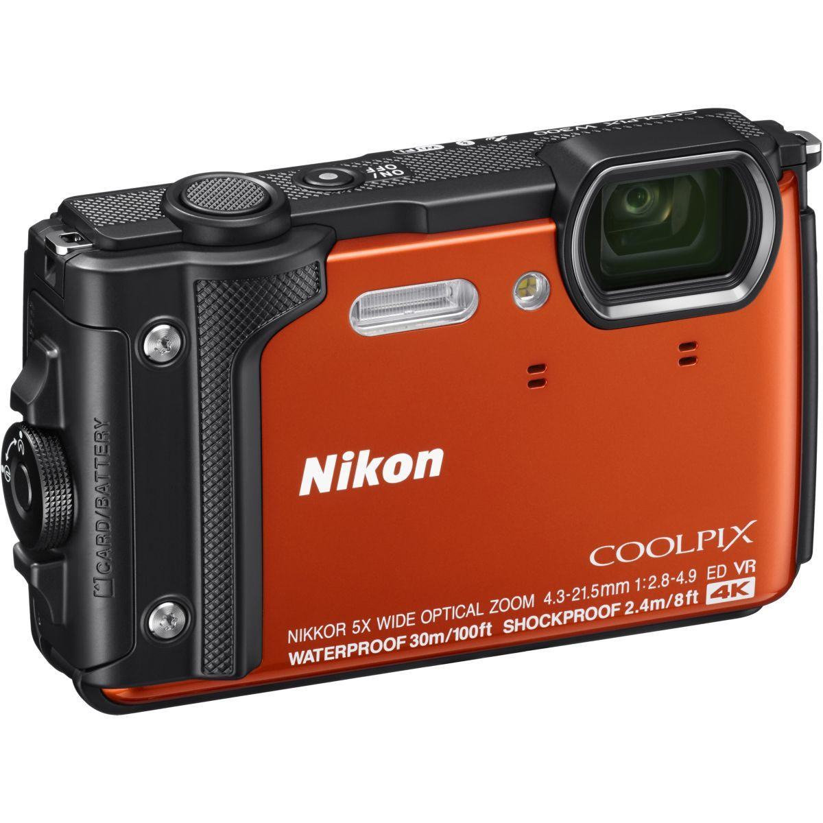Appareil photo compact nikon coolpix w300 orange
