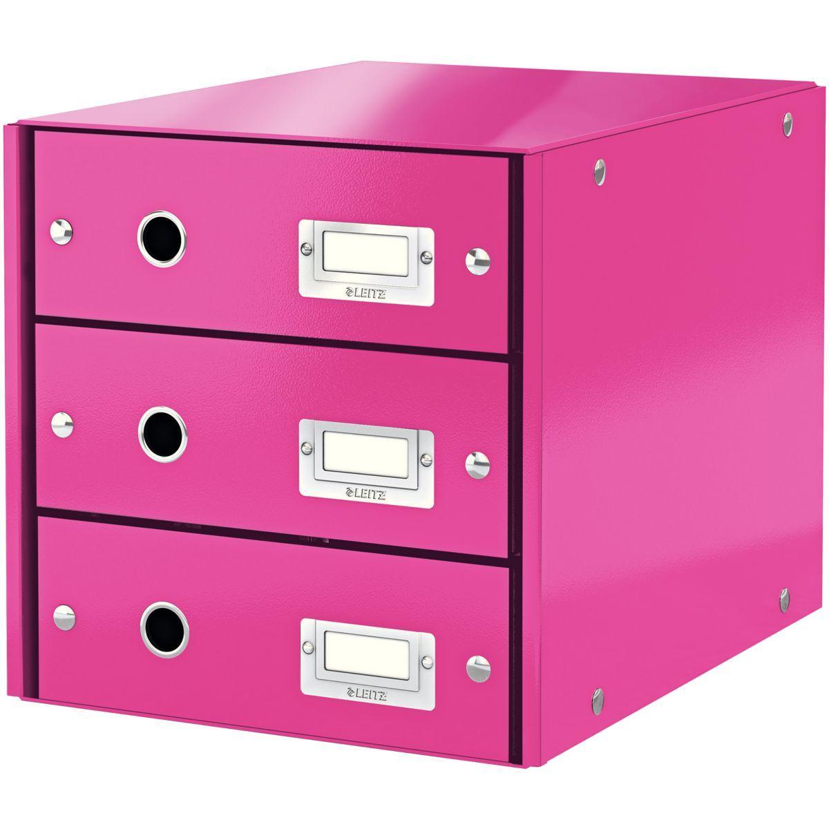 Bloc tiroir leitz bloc de classement wow 3 tiroirs rose - 2% de remise imm�diate avec le code : automne2 (photo)