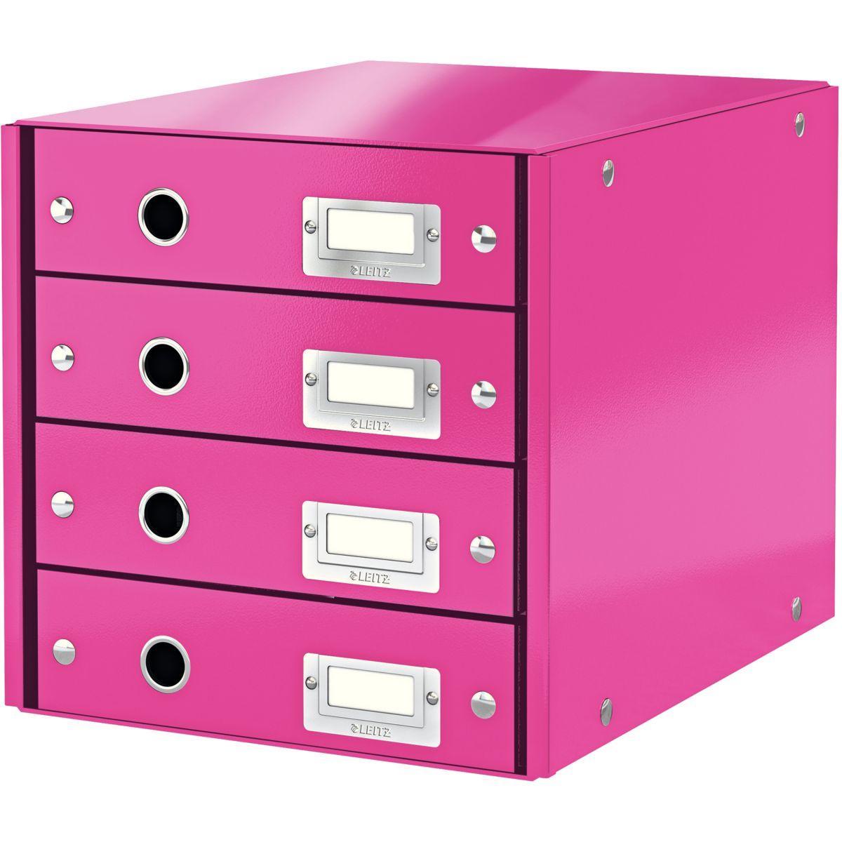Bloc tiroir leitz bloc de classement wow 4 tiroirs rose - 2% de remise imm�diate avec le code : automne2 (photo)