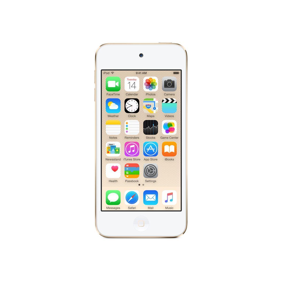 Lecteur mp4 apple ipod touch 128gb or - livraison offerte : code livdom (photo)