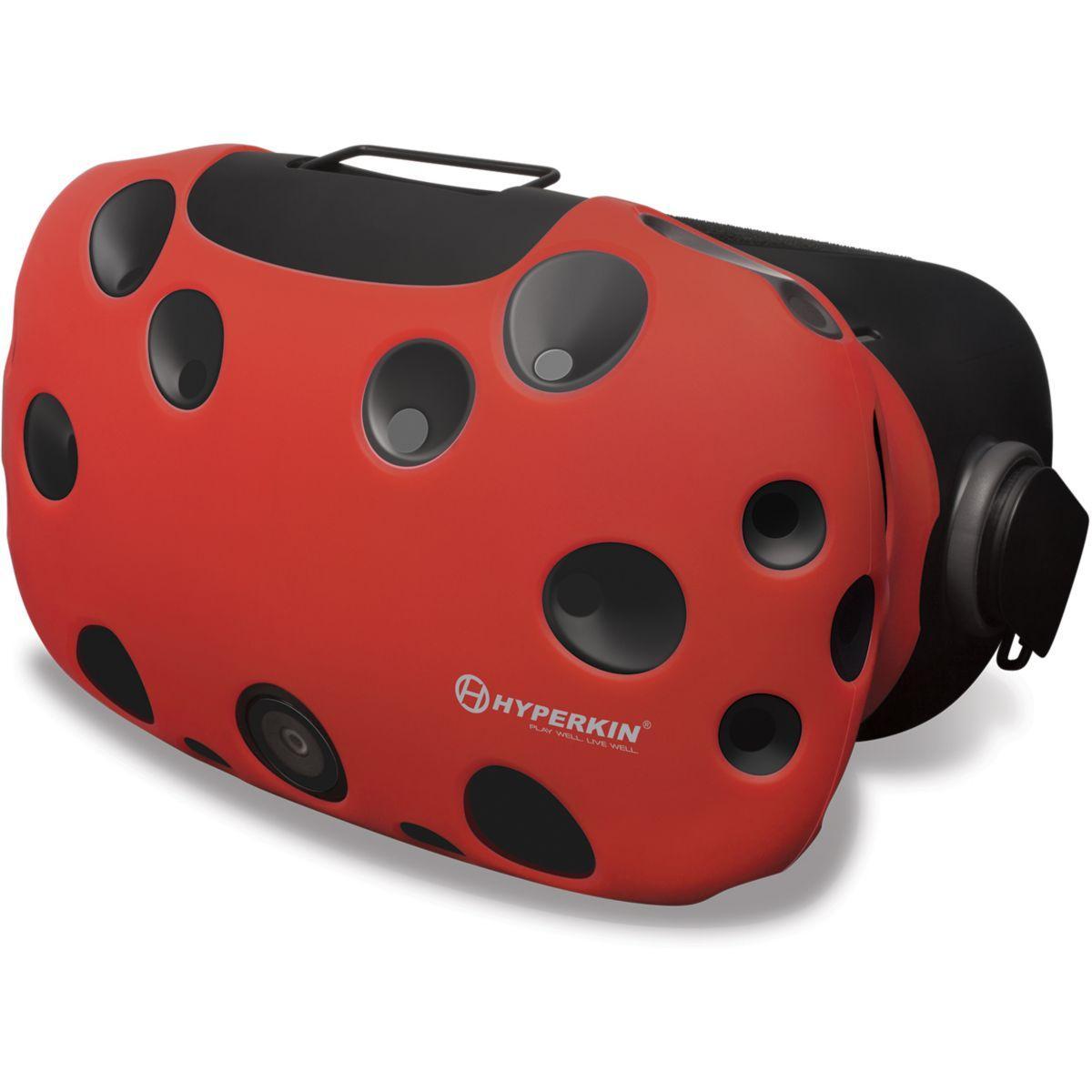 Protection casque hyperkin housse silicone rouge pour htc vive - 2% de remise imm�diate avec le code : deal2 (photo)