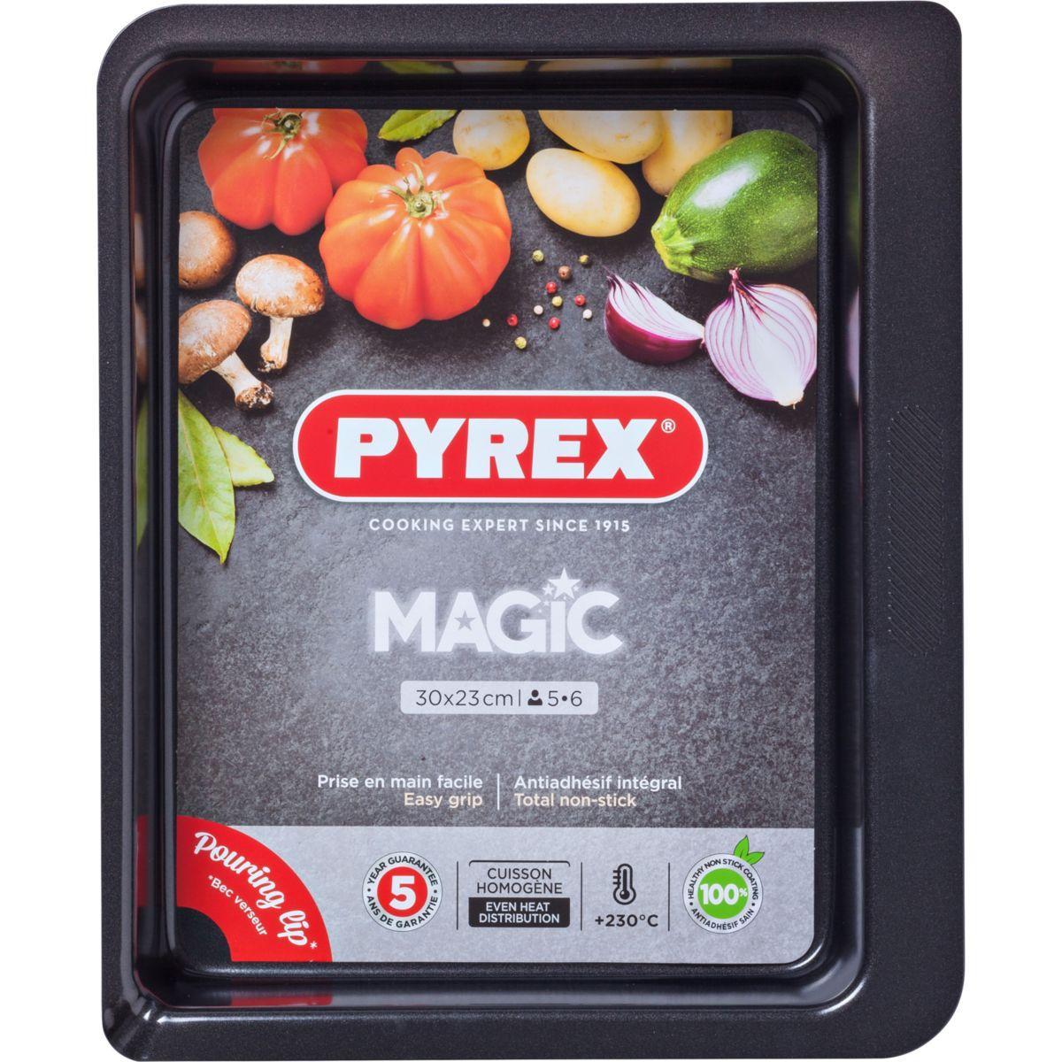 Plaque de cuisson pyrex rect m�tal 30x23 cm magic (photo)