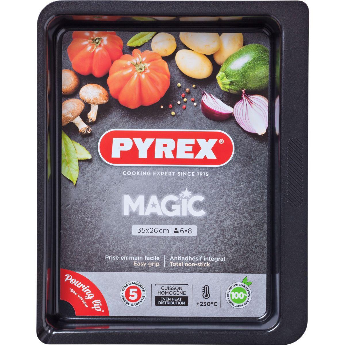 Plaque de cuisson pyrex rect m�tal 35x26 cm magic (photo)