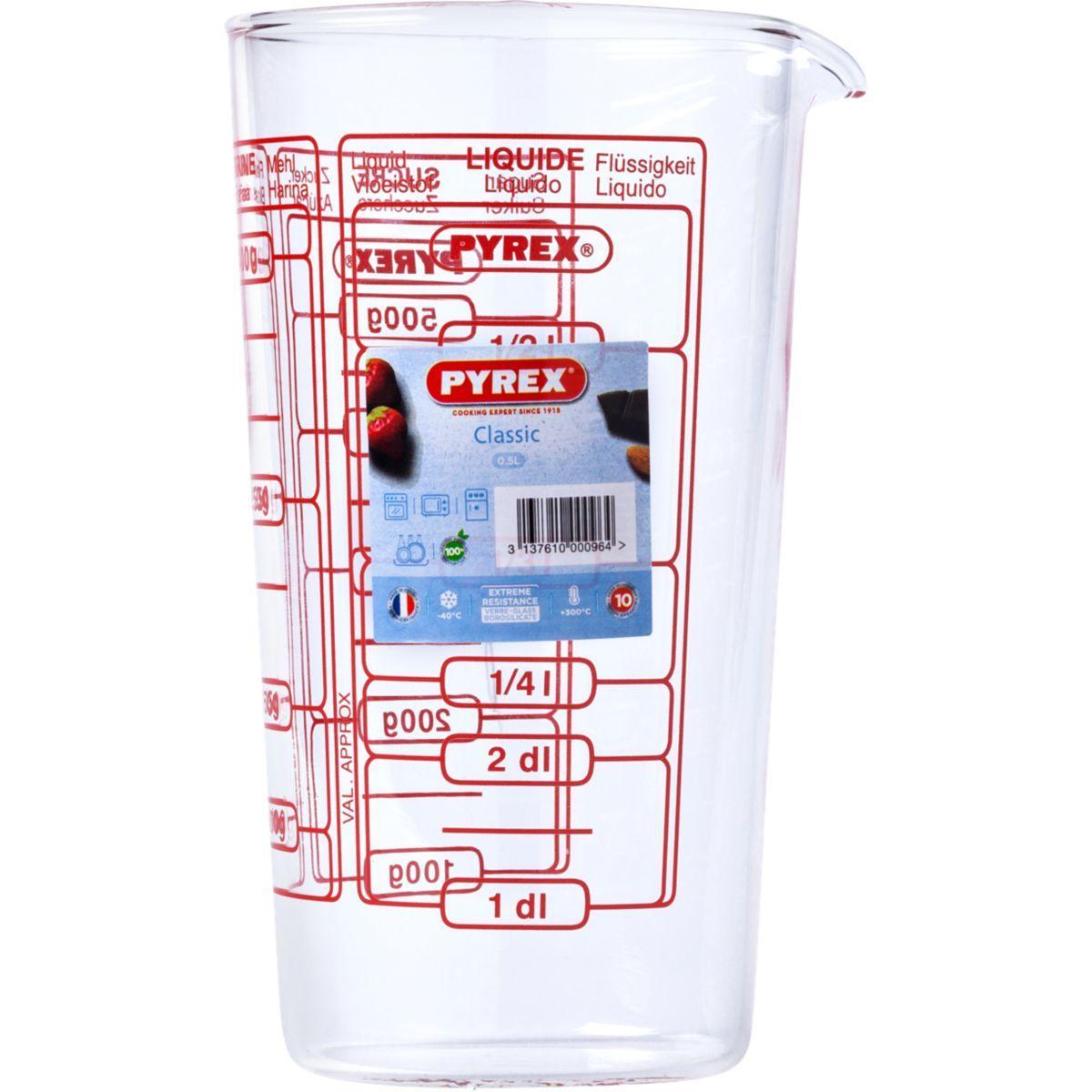 Doseur pyrex verre mesureur 0,5l - 7% de remise imm�diate avec le code : paques7 (photo)