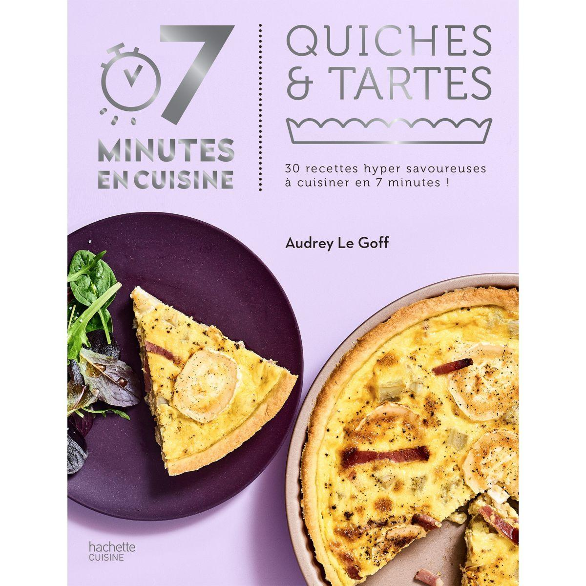 Livre de cuisine hachette 7 minutes en cuisine quiches et tartes (photo)