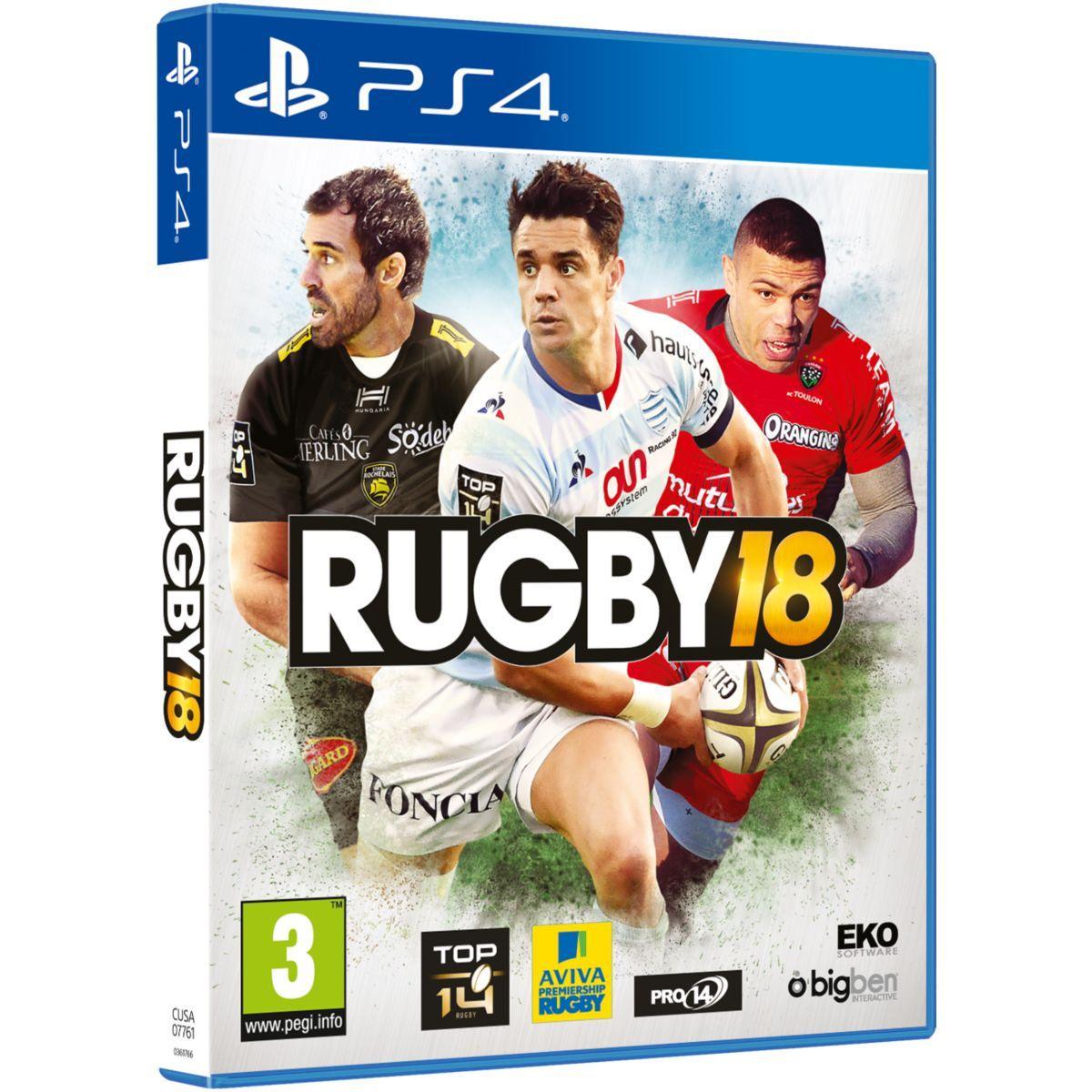 Jeu ps4 bigben rugby 18 - 2% de remise imm�diate avec le code : wd2 (photo)