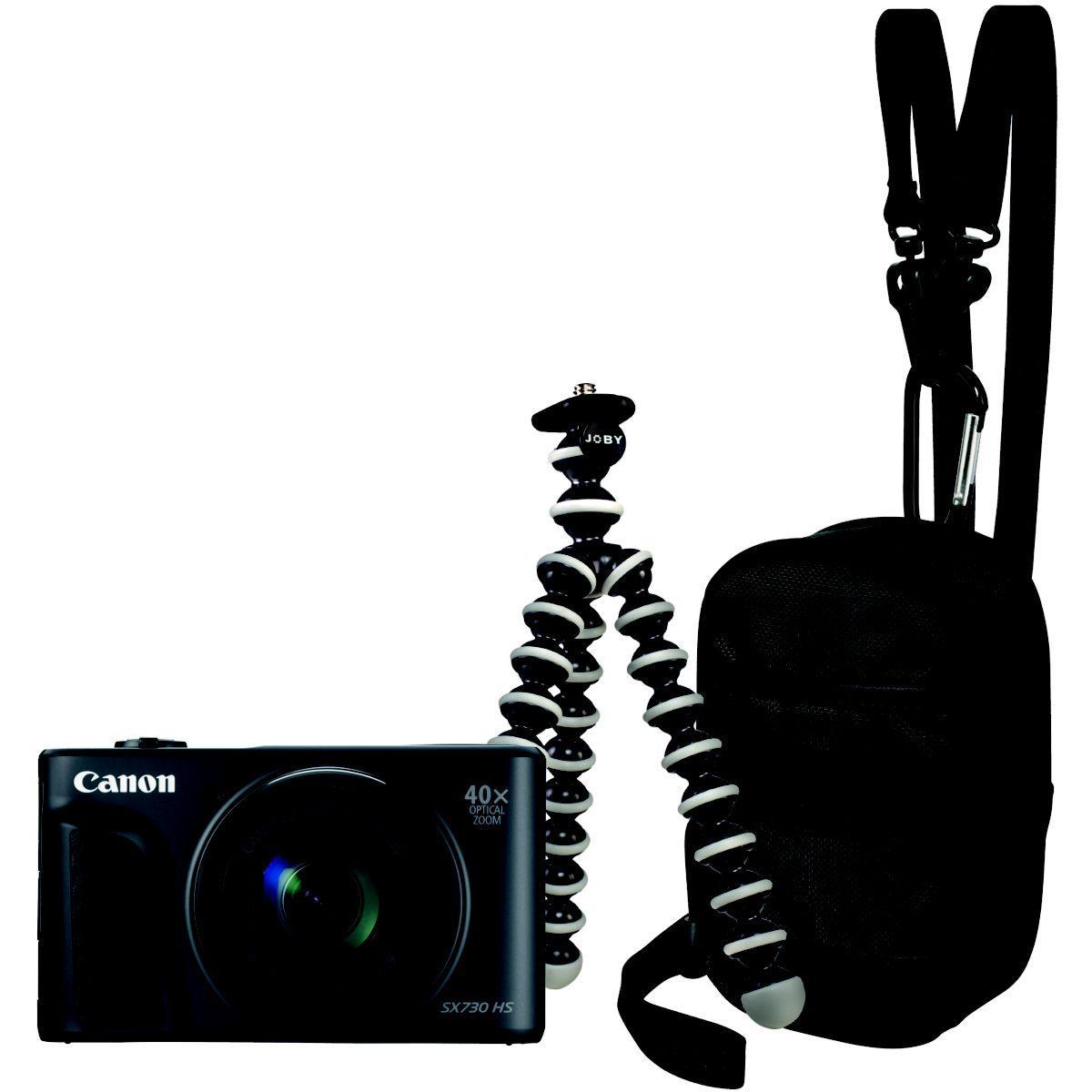 Appareil photo compact canon powershot sx730hs noir travel kit - 10% de remise imm�diate avec le code : school10 (photo)