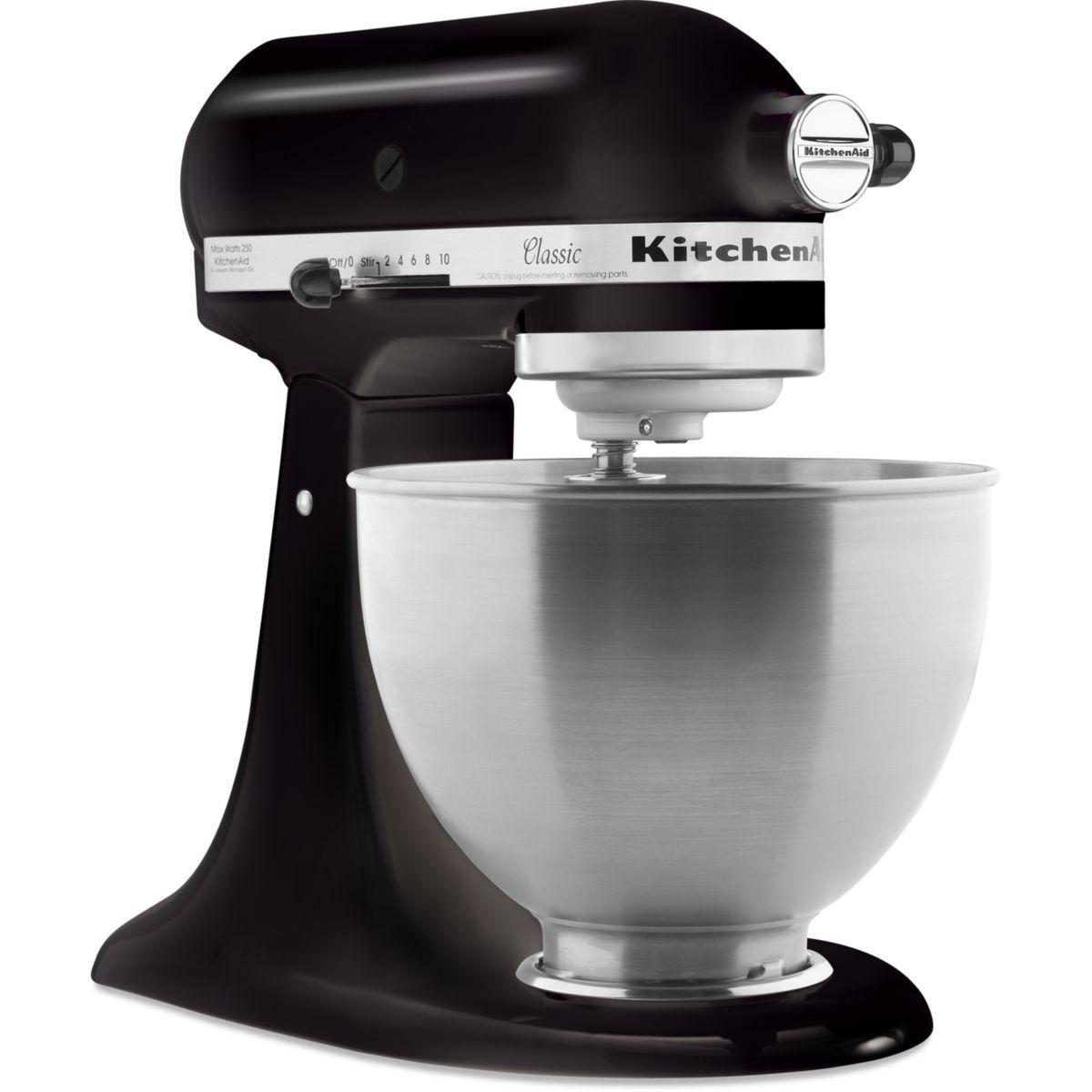 Robot p�tissier kitchenaid 5k45ss eob noir classic (photo)