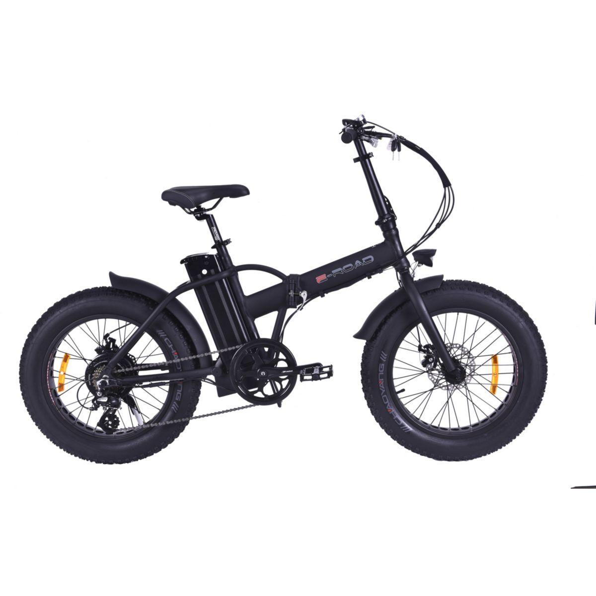 V?lo ? assistance ?lectrique e-road mini fat bike noir - livra...