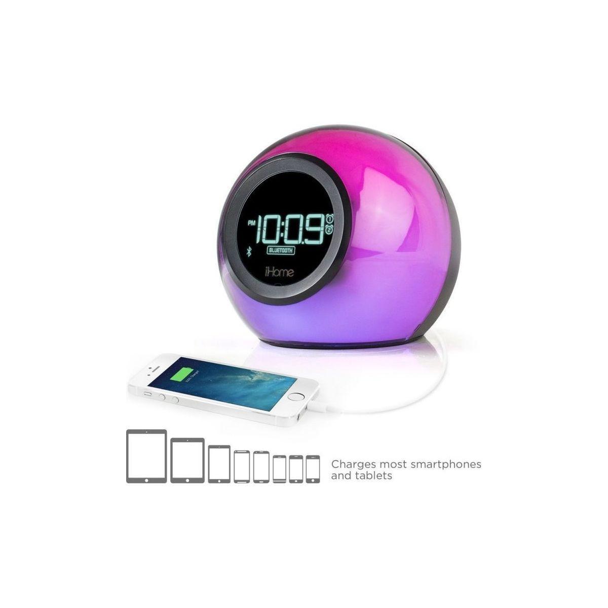 Radio-r�veil ihome ibt29 bluetooth color changing - livraison offerte : code liv