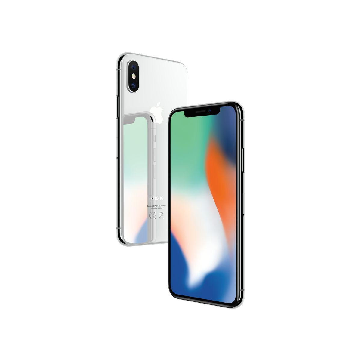 Smartphone apple iphone x argent 64 go