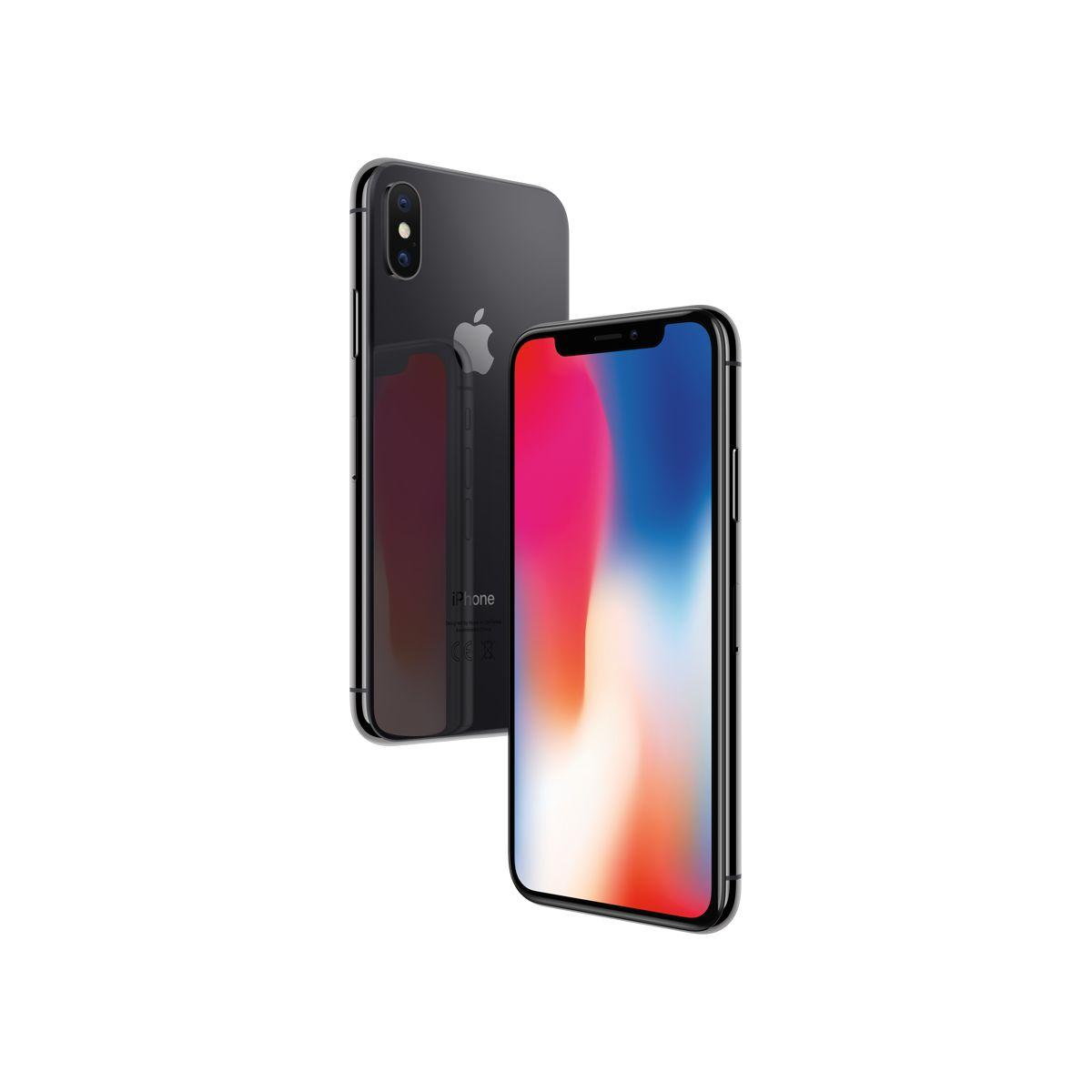 Smartphone apple iphone x gris sid�ral 256 go