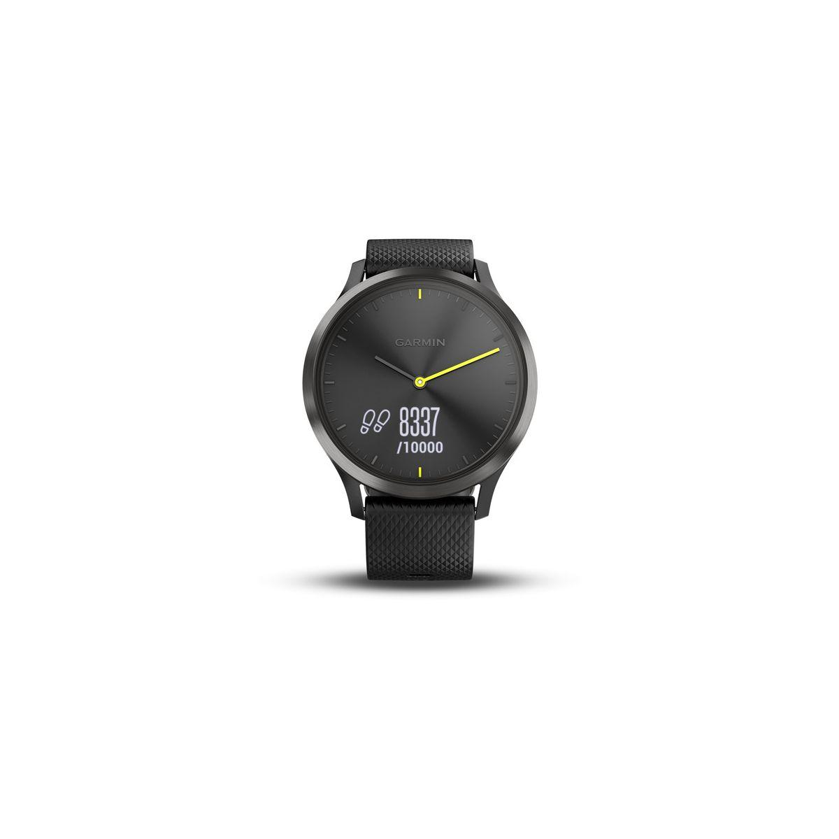 Bracelet connect� garmin vivomove hr sport black l - livraison offerte : code liv (photo)