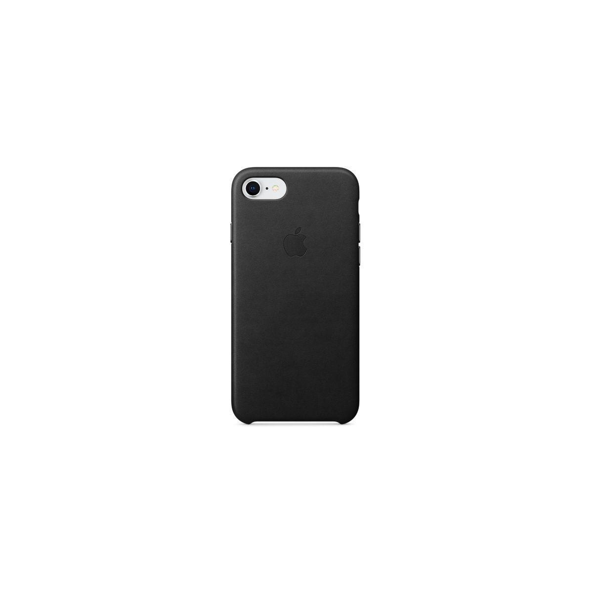 Coque apple iphone 7/8 cuir noir