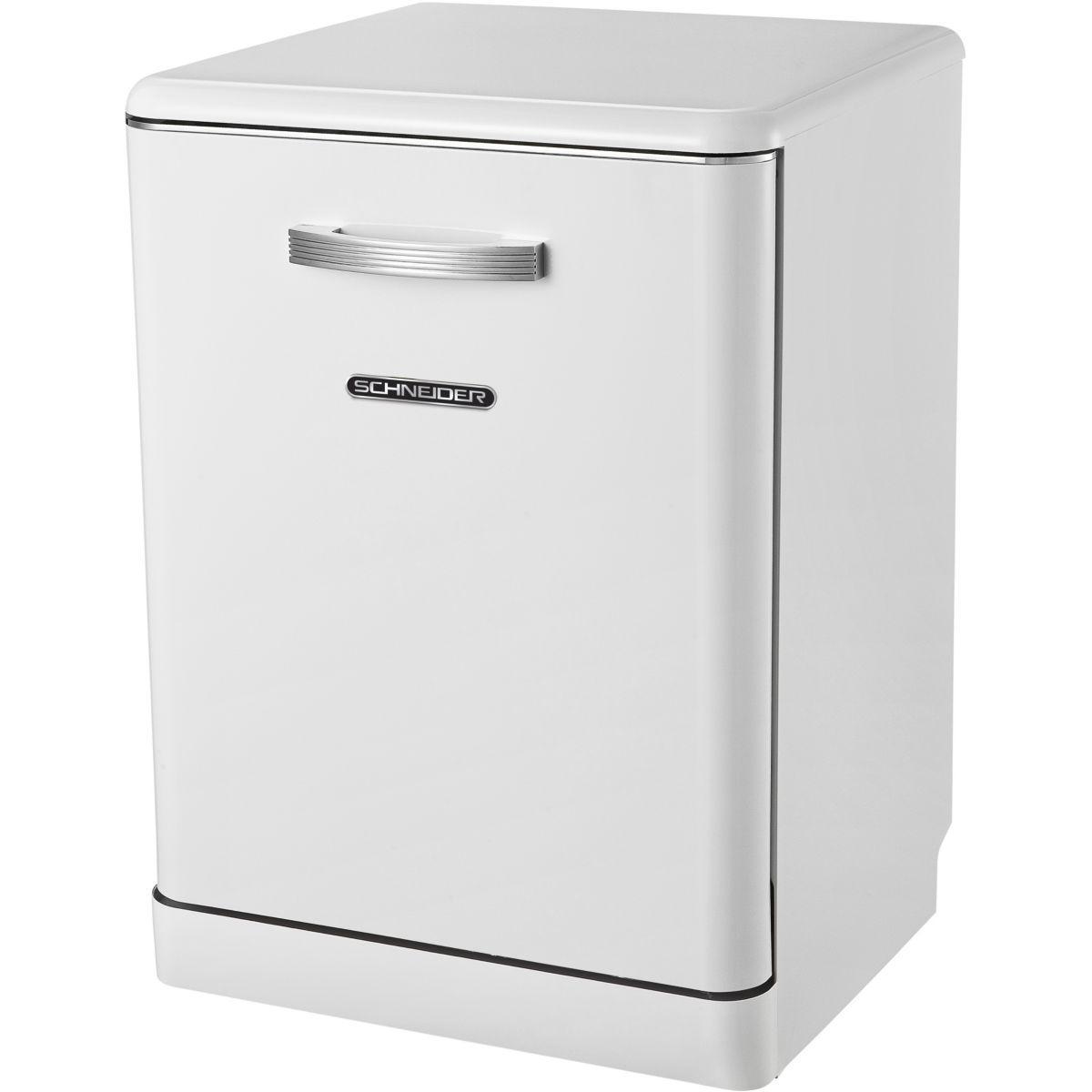 Lave vaisselle 60 cm schneider sdw1444vw vintage blanc - 15% de remise imm�diate avec le code : gam15 (photo)