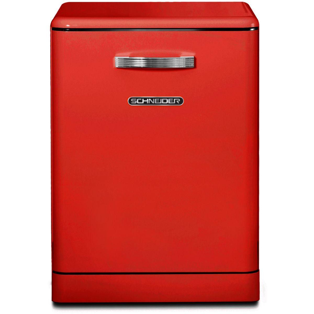 Lave vaisselle 60 cm schneider sdw1444vr vintage rouge - 15% de remise imm�diate avec le code : gam15 (photo)