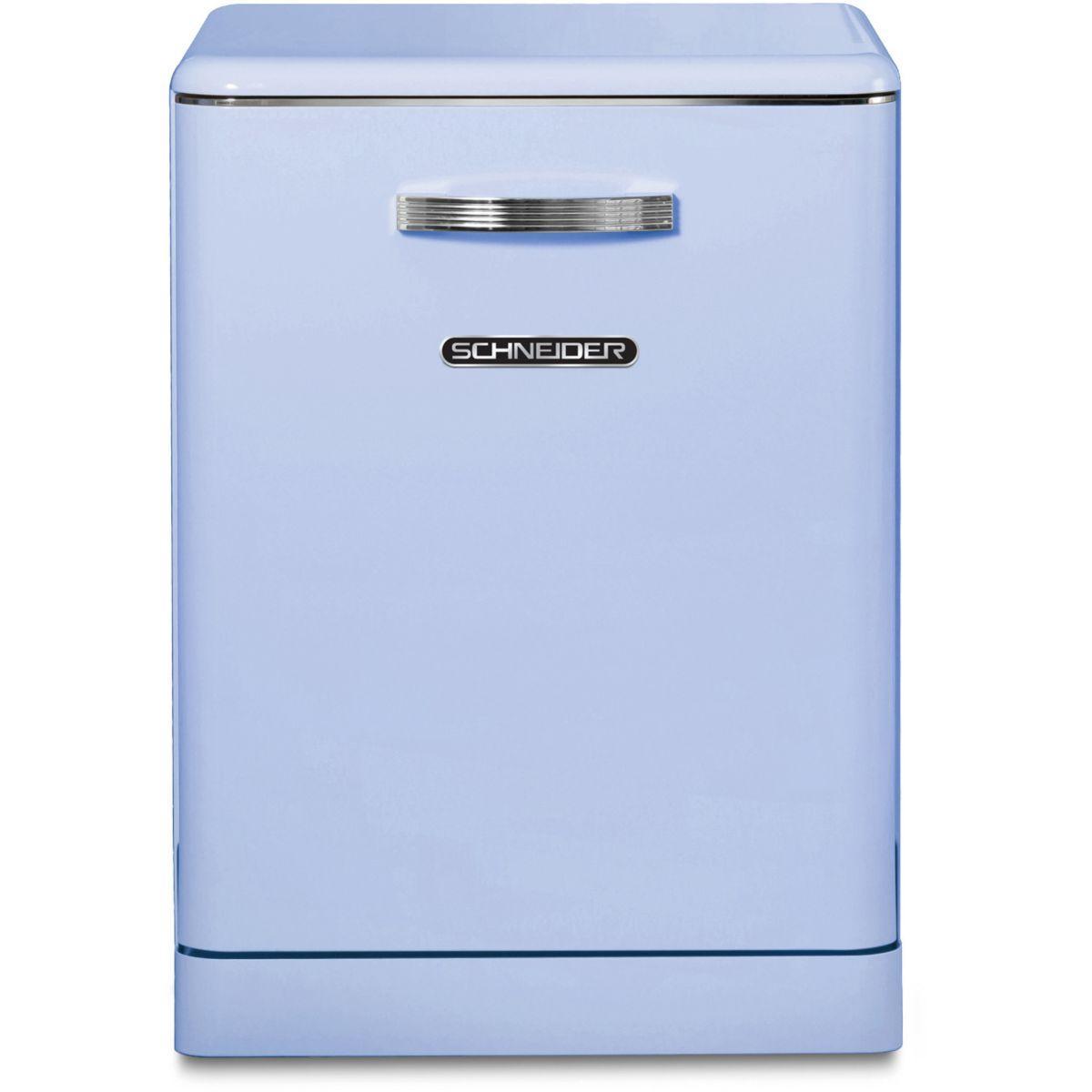 Lave vaisselle 60 cm schneider sdw1444vbl vintage bleu - livraison offerte : code livp (photo)