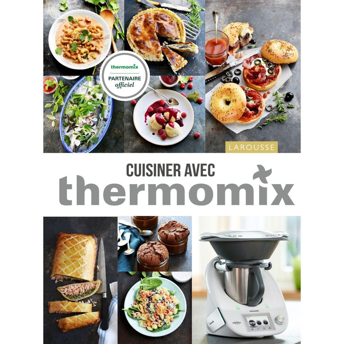 Livre de cuisine larousse cuisiner avec thermomix - 10% de remise imm�diate avec le code : deal10 (photo)