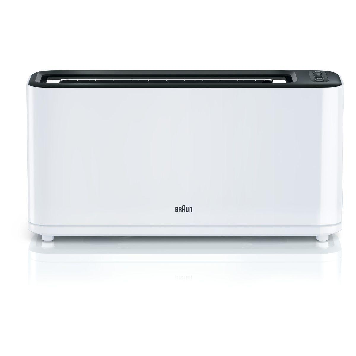 Grille-pain braun ht3100wh purease - 2% de remise imm?diate av...