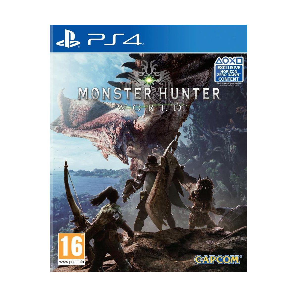 Jeu ps4 capcom monster hunter world (photo)