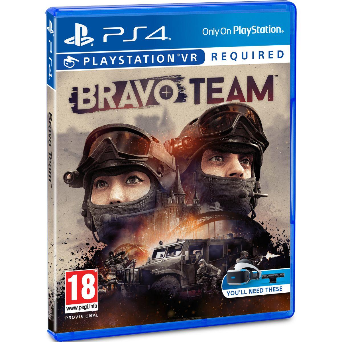 Jeu ps4 sony jeu vr bravo team + qui es-tu ? (photo)