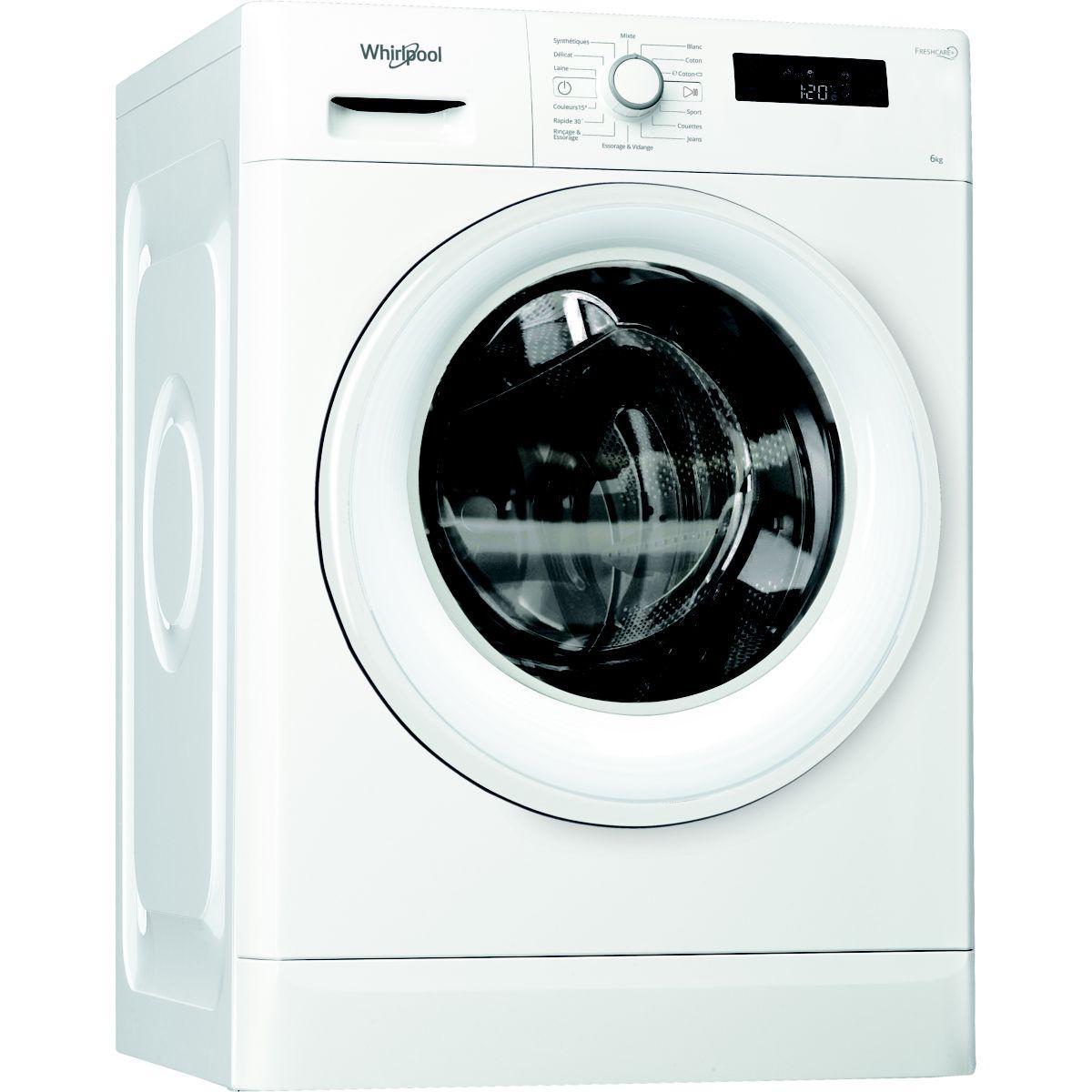 Lave-linge compact whirlpool freshcare fwsf61252 - 2% de remise imm?diate avec le code : wd2