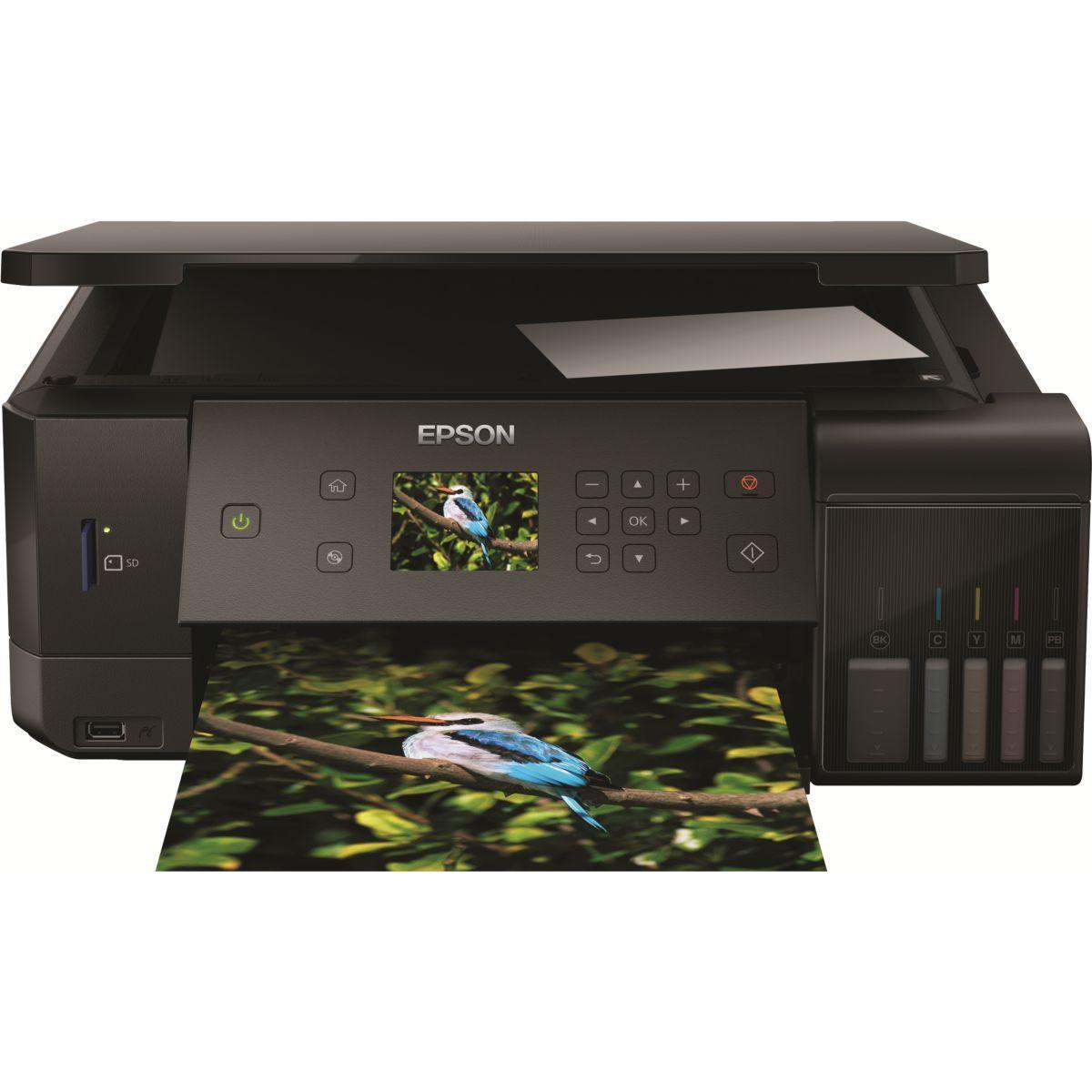 Imprimante jet d'encre epson ecotank et-7700 - livraison offerte : code livrelais (photo)