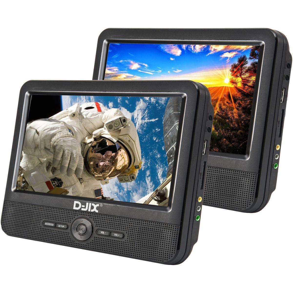 Lecteur dvd portable double ?cran d-jix pvs 906-70dp twin doub...