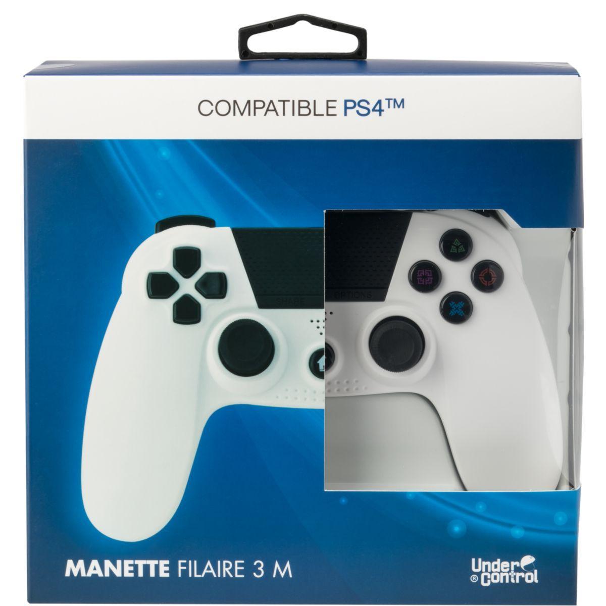 Manette under control manette ps4 filaire blanche - 2% de remi...