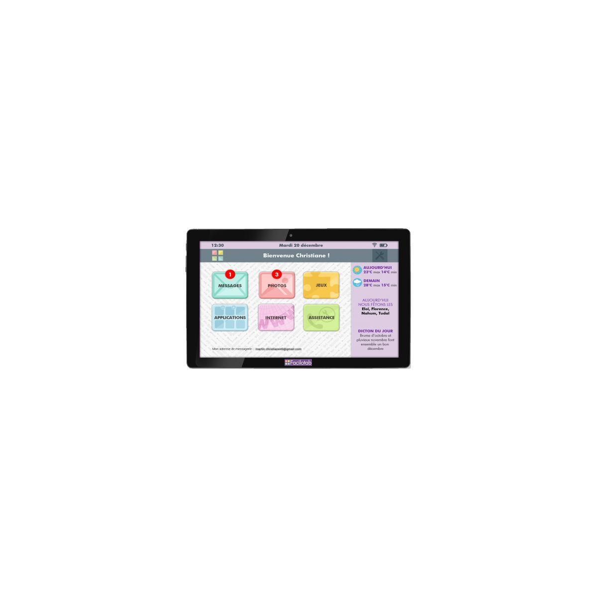 Tablette cdip pack xl facilotab 16go wifi - 10% de remise imm�diate avec le code : fete10