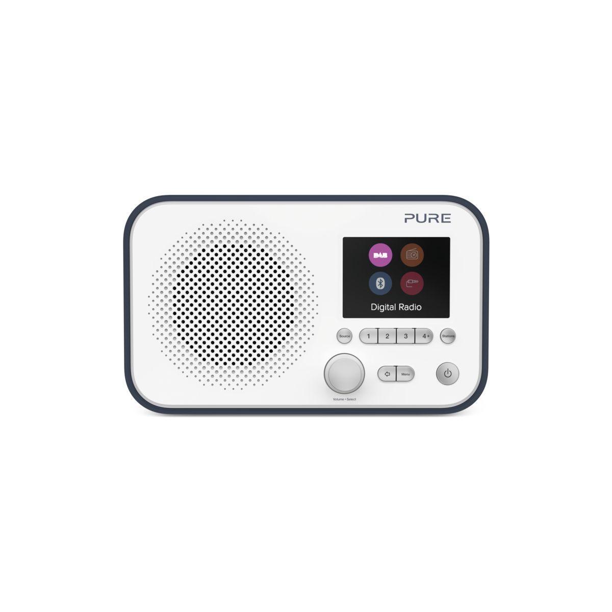 Radio num�rique pure elan bt3 bleue marine/blanche - 10% de remise imm�diate avec le c