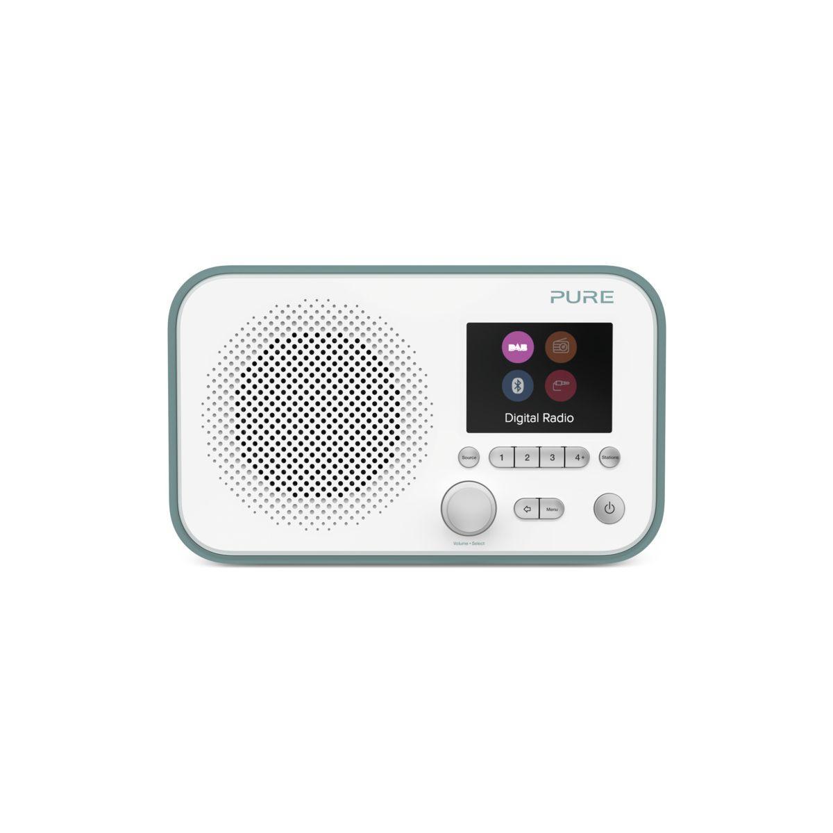 Radio num�rique pure elan bt3 vert d'eau/blanche - 20% de remise imm�diate avec le cod