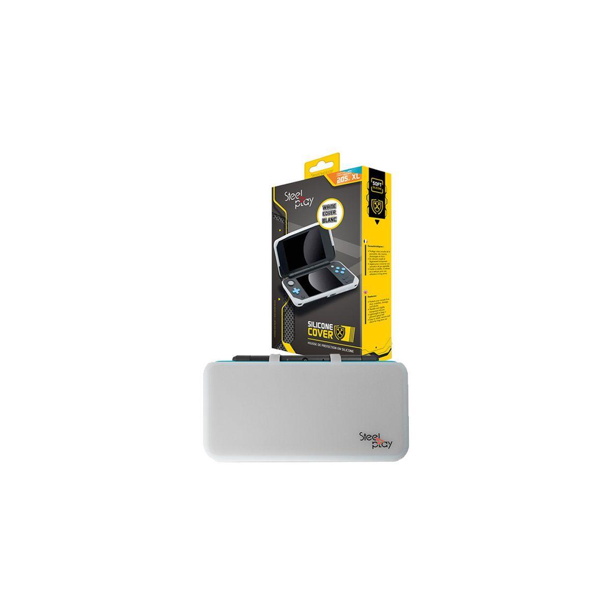 Housse de protection steelplay housse silicone new 2ds xl blanche - 2% de remise imm�diate avec le code : deal2 (photo)