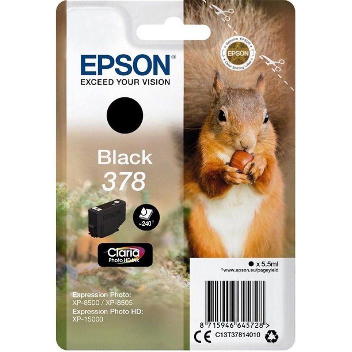 Cartouche d'encre epson 378 noir s�rie ecureuil