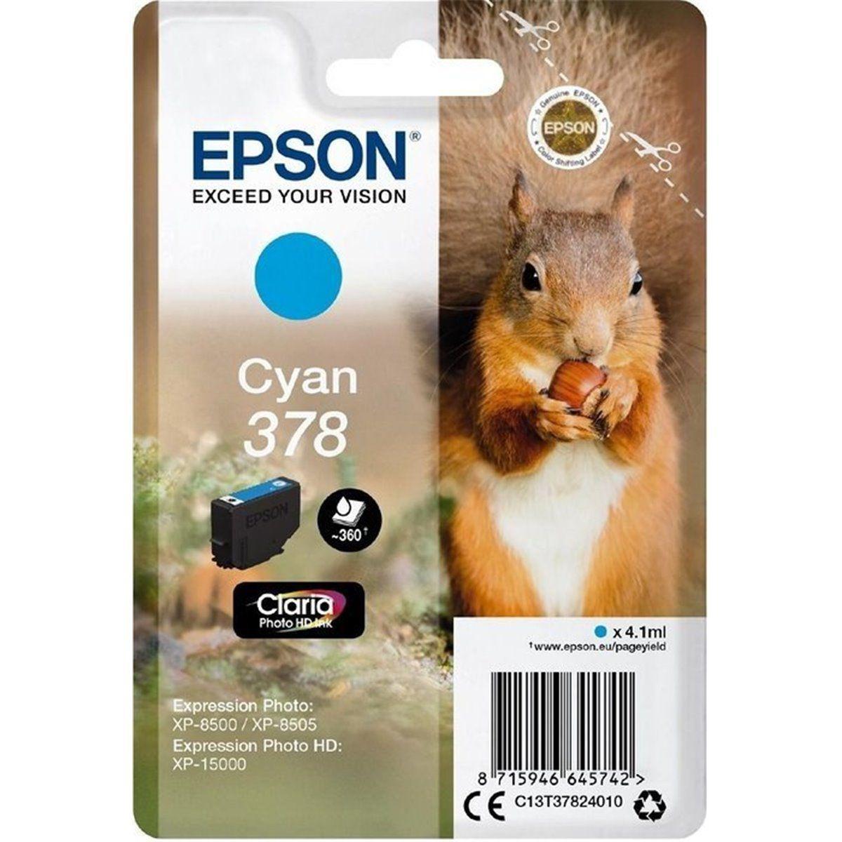 Cartouche d'encre epson 378 cyan s�rie ecureuil