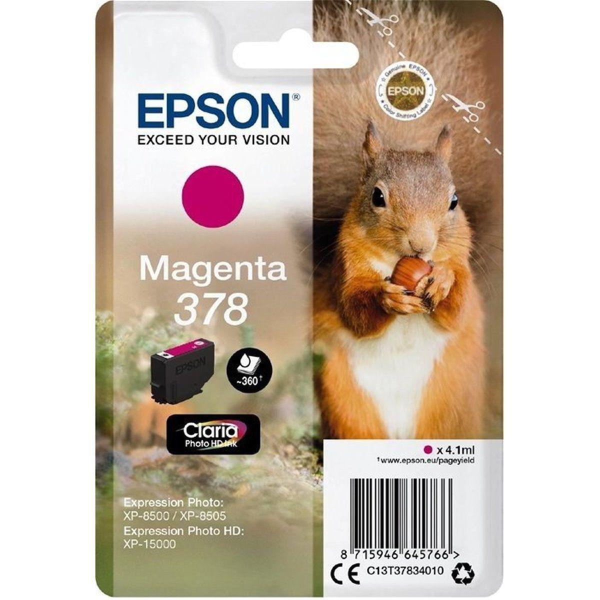 Cartouche d'encre epson 378 magenta s�rie ecureuil