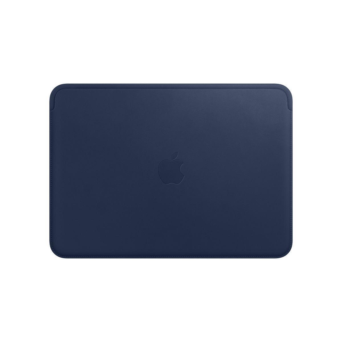 Housse apple macbook 12'' cuir bleu - livraison offerte : code liv
