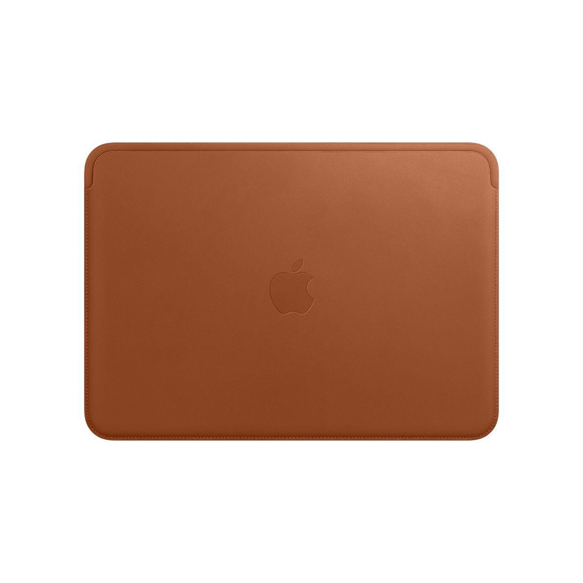 Housse apple macbook 12'' cuir havane - livraison offerte : code liv