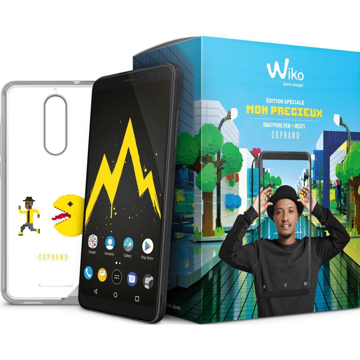 Smartphone wiko pack mon pr�cieux view 32go black