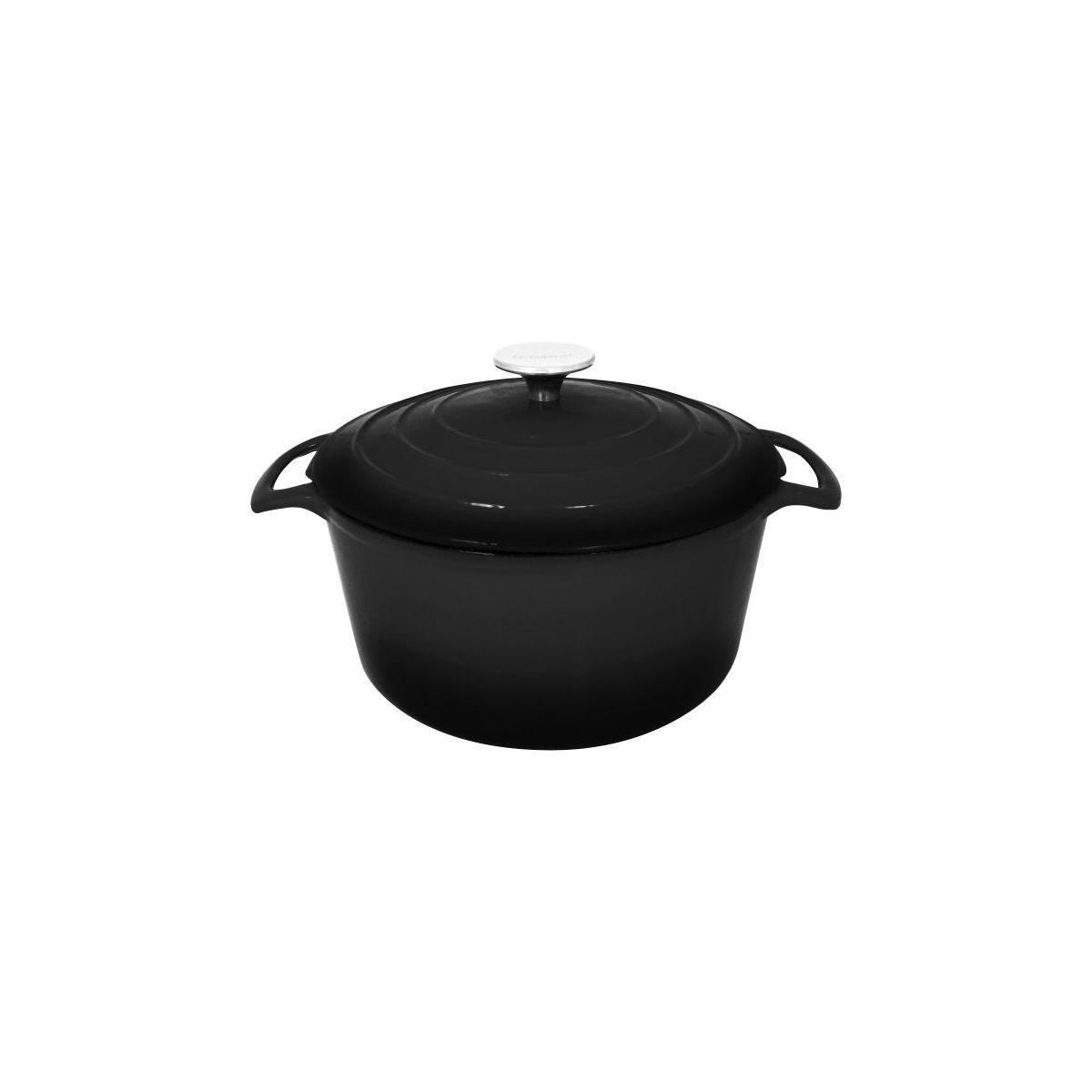 Cocotte ronde table & cook fonte noire diam 28 cm - 2% de remise imm�diate avec le code