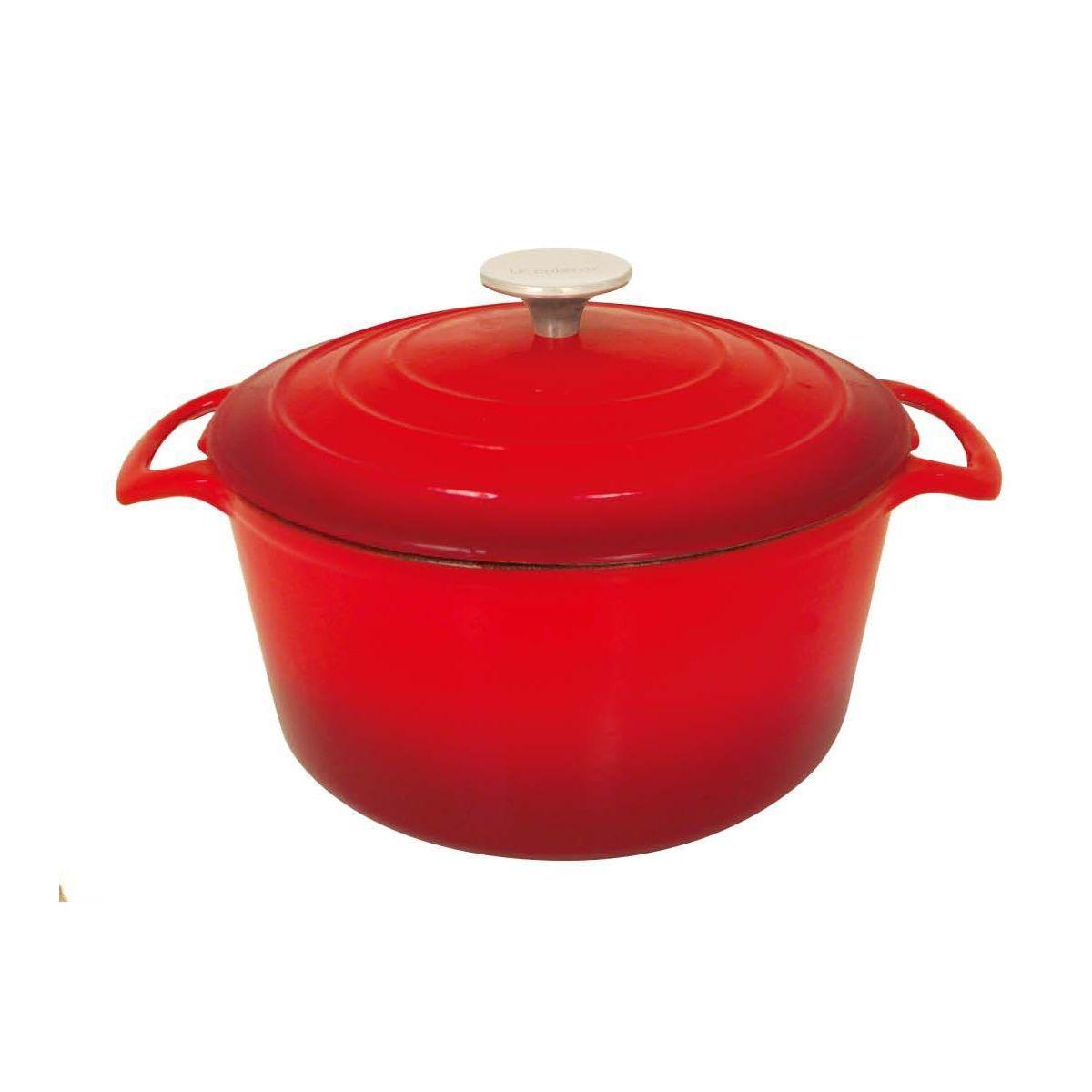 Cocotte ronde table & cook fonte rouge diam 28 cm - 2% de remise imm�diate avec le code