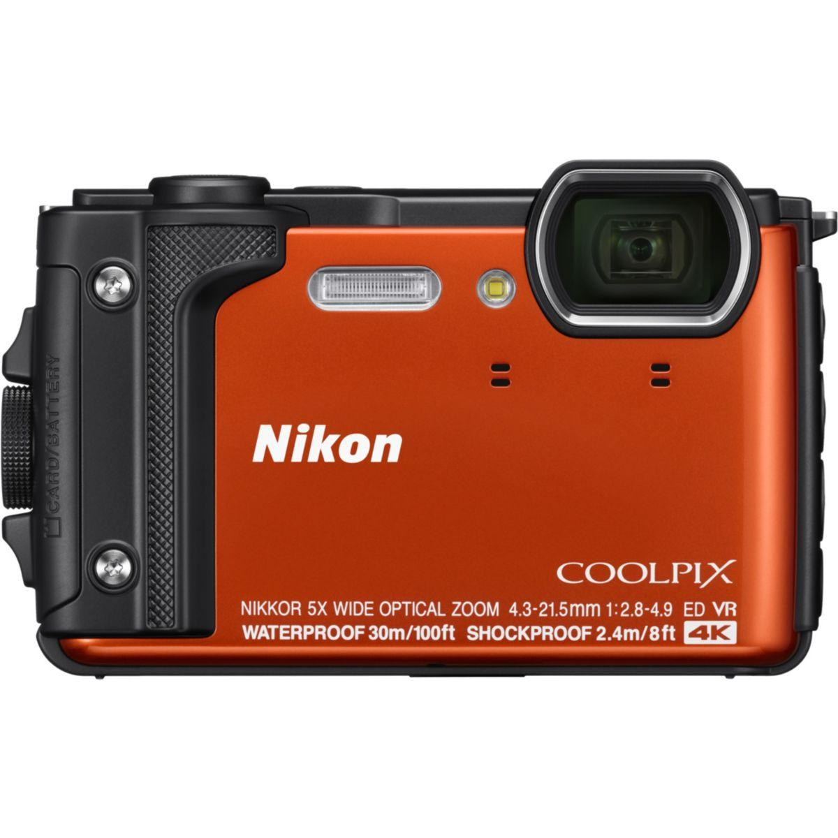 Appareil photo compact nikon coolpix w300 orange + sac �tanche (photo)